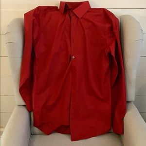 Men's LS Red J F Ferrar dress shirt